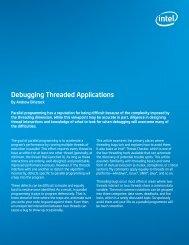 Debugging Threaded Applications