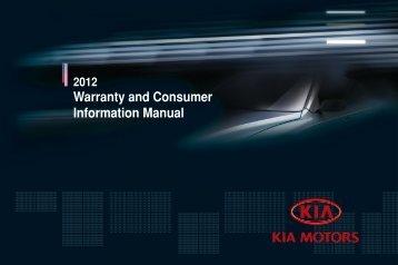 2012 Kia Warranty and Consumer Information Manual - Motorwebs