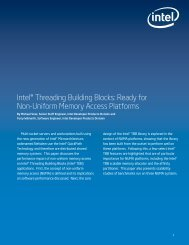 Intel® Threading Building Blocks: Ready for Non-Uniform Memory ...