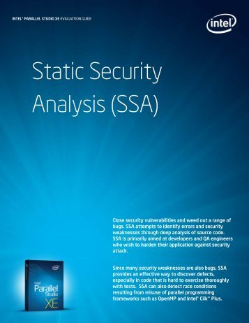 Static Security Analysis (SSA)