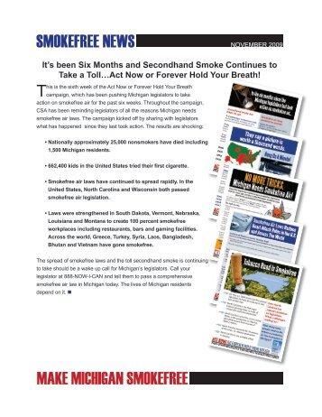 SMOKEFREE NEWS MAKE MICHIGAN SMOKEFREE