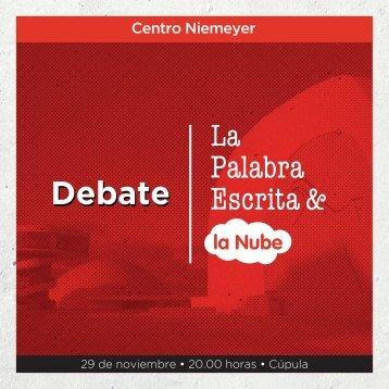 Descarga aquí el tarjetón del debate - Centro Niemeyer
