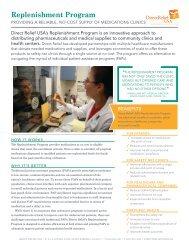 Replenishment Program - Direct Relief International