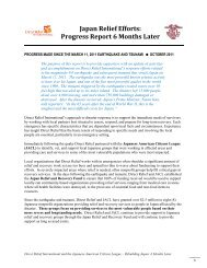 Read a Six-Month Report here - Direct Relief International