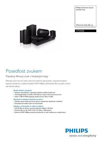 Leaflet HTS3560_12 Released Czech Republic (Czech ... - EVA.cz