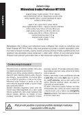 Professor MT1701X - EVA.cz - Page 2