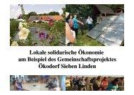 Siedlungs- genossenschaft Ökodorf eG ... - ANU Hamburg