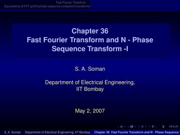 Chapter 36 Fast Fourier Transform and N - Phase ... - E-Courses