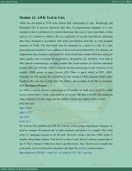 Module 12: AWK Tool in Unix - E-Courses
