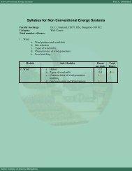 Non Conventional Energy Systems - E-Courses