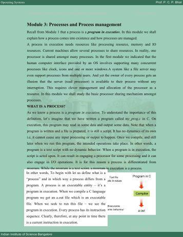 Module 3: Processes and Process management - E-Courses