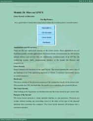 Module 20: More on LINUX - E-Courses