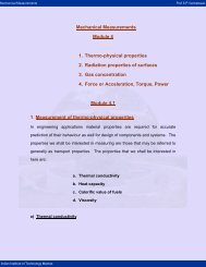 1. Thermo-physical properties 2. Radiation properties - nptel - Indian ...
