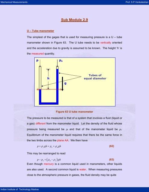 Fluid pressure nptel