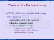 Classless Inter Domain Routing - nptel - Indian Institute of ...