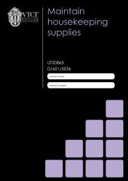 Maintain housekeeping supplies - Download - VTCT