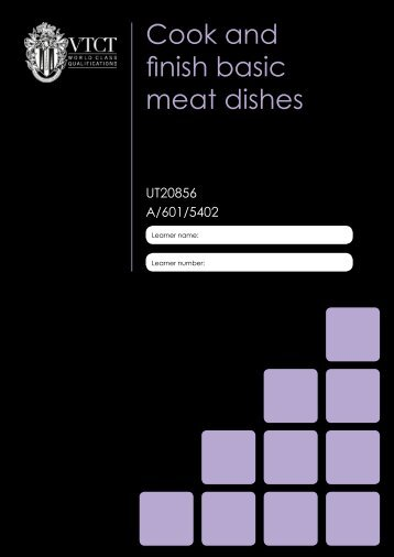 Cook and finish basic meat dishes - Download - VTCT
