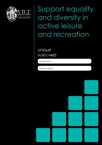 Support equality and diversity in active leisure and recreation