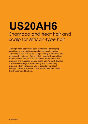 Shampoo and treat hair and scalp for African-type hair