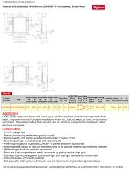 Hoffman Catalog Drawing Specification - Nedco