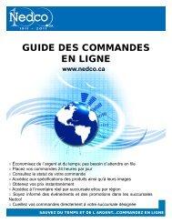 Guide des commandes en ligne 12 Pages - Nedco