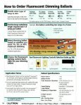 Fluorescent Dimming Ballast Selection Guide Where to go ... - Nedco - Page 2