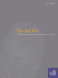 You did this. - CDA Foundation