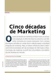 Cinco décadas de Marketing - RAE Publicações - Fundação Getulio ...
