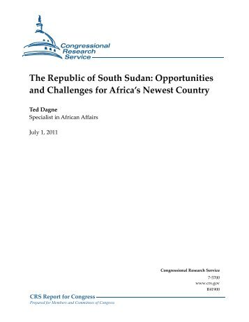 The Republic of South Sudan - Foreign Press Centers