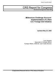 Millennium Challenge Account: Implementation of a New U.S. ...