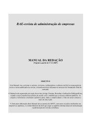 Manual da redação - RAE Publicações - Fundação Getulio Vargas