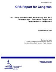 US Trade and Investment Relationship with Sub - Foreign Press ...