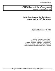 Latin America and the Caribbean: Issues for the 109th Congress