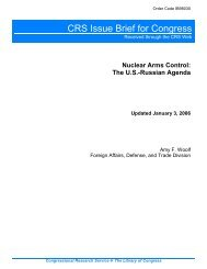 Nuclear Arms Control: The U.S.-Russian Agenda - Federation of ...