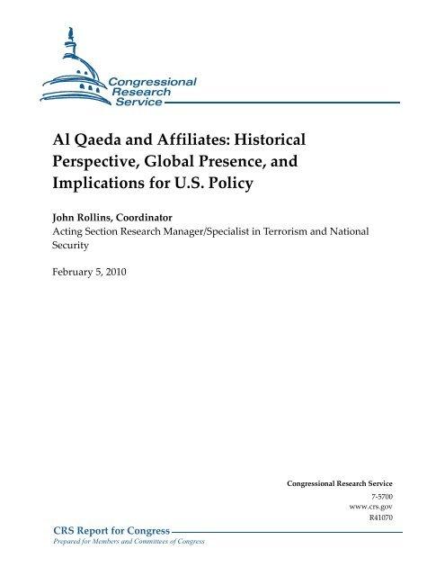 Al Qaeda and Affiliates - Foreign Press Centers - US Department of ...