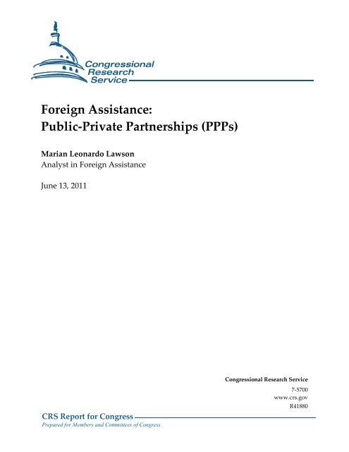 Foreign Assistance: Public-Private Partnerships - Federation of ...