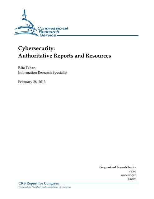 Cybersecurity: Authoritative Reports and Resources - Lawfare