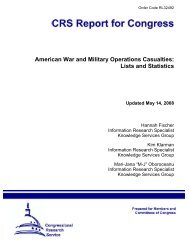 American War and Military Operations Casualties: Lists and Statistics