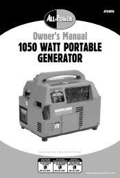 1050 WATT PORTABLE GENERATOR