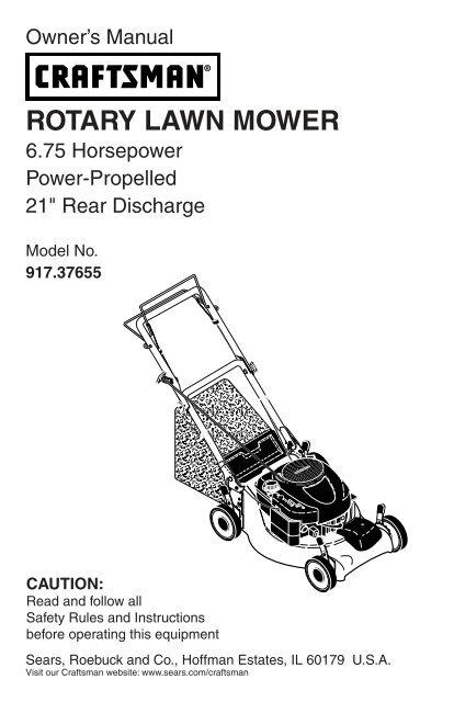 craftsman rotary mower manual