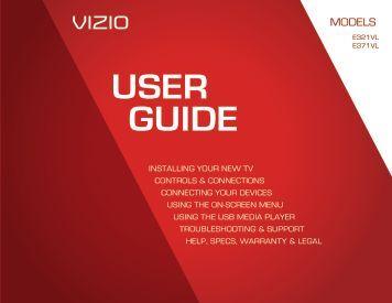 Users Manual - Vizio