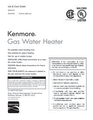Kenmore® Gas Water Heater - Sears