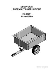 DUMP CART ASSEMBLY INSTRUCTIONS 25-01251 683-04078A