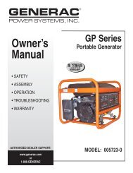 Owner's Manual - Electric Generators Direct
