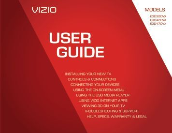 User Manual - Vizio