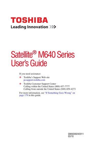 Satellite® M640 Series User's Guide - Howard Computers