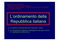2. L'ordinamento della Repubblica italiana (schede) - Eddyburg