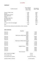 Listino prezzi 2012 - Campeggi in Italia