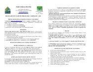 Regolamento e listino prezzi - Parco delle Piscine