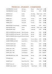 Weinkarte Dezember 2012